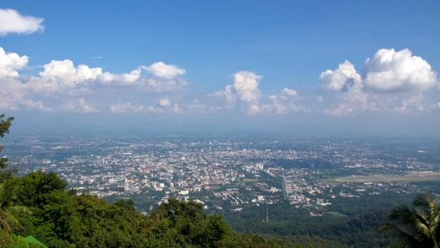 Ausblick vom Wat Phra That Doi Suthep - dem Wahrzeichen Chiang Mais
