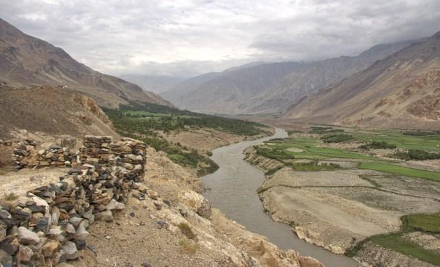 Panoramablick vom Kakh Kaha Fortress mit Blick auf Afghanistan