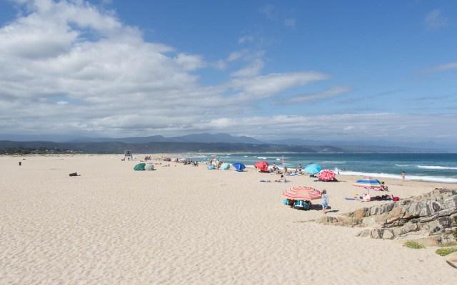 Aussicht Look Out Deck auf Strand