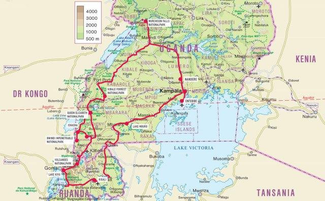 Reisebericht: Route Uganda und Ruanda