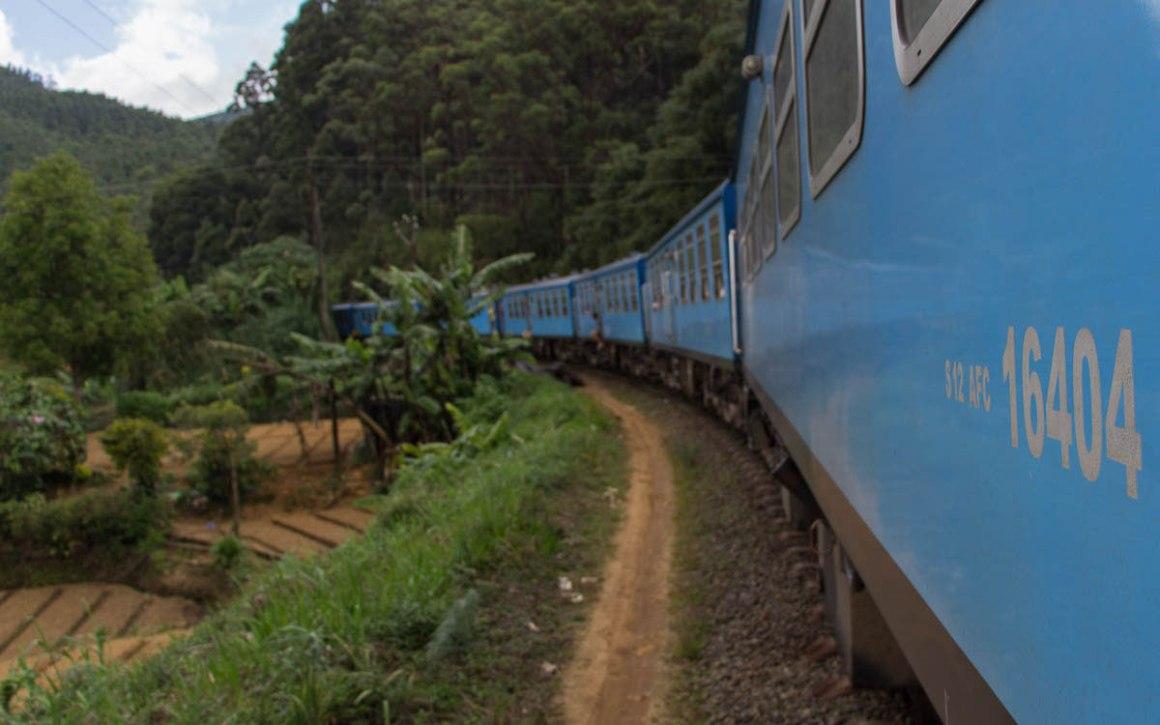 Trein rijden in Sri Lanka