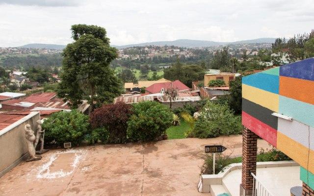Aussicht auf Kigali und seine Hügel