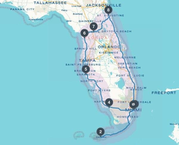Florida Reisebericht Tipps Route fr 2 Wochen mit Auto