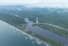 Tortuguero Nationalpark Costa Rica vom Flugzeug