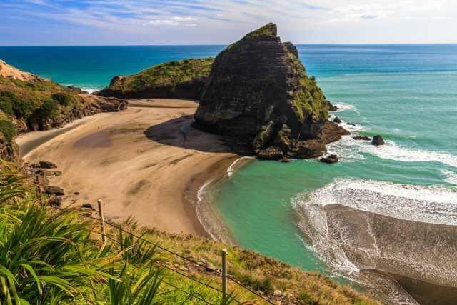 Neuseeland Tipps: Aussicht auf Piha Beach
