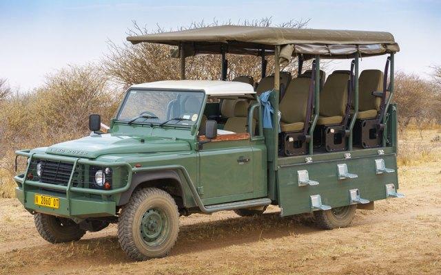 Unser Fahrzeug beim Rhino Drive: Toyota Landcruiser