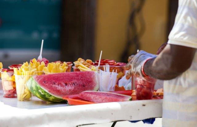 Streetfood Obst Cartagena Kolumbien