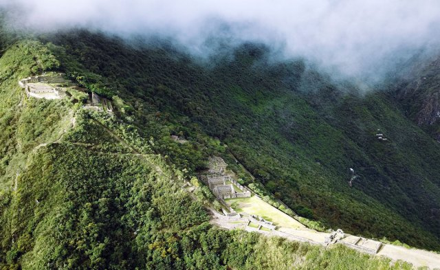 Choquequirao Peru Luftaufnahme