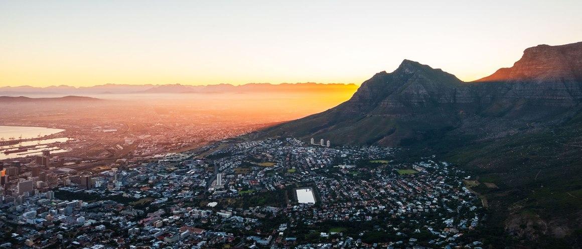 Voor zonsopgang Kaapstad