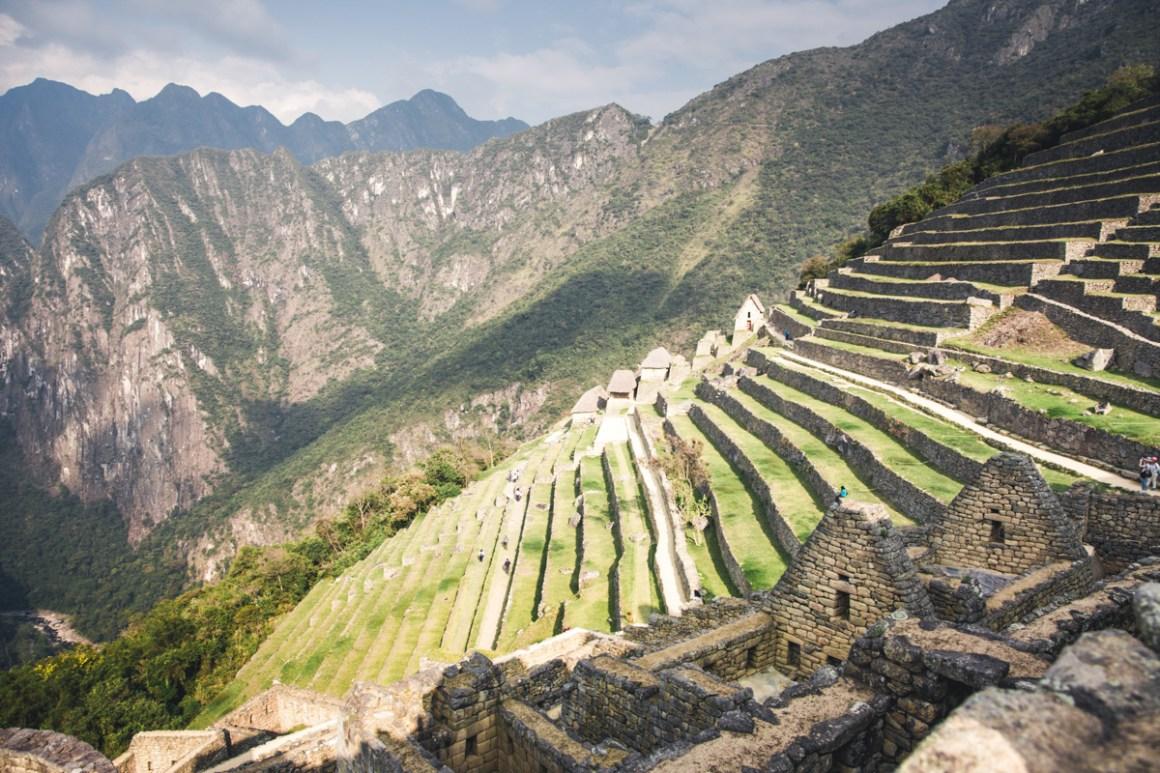 Terrassen op Machu Picchu