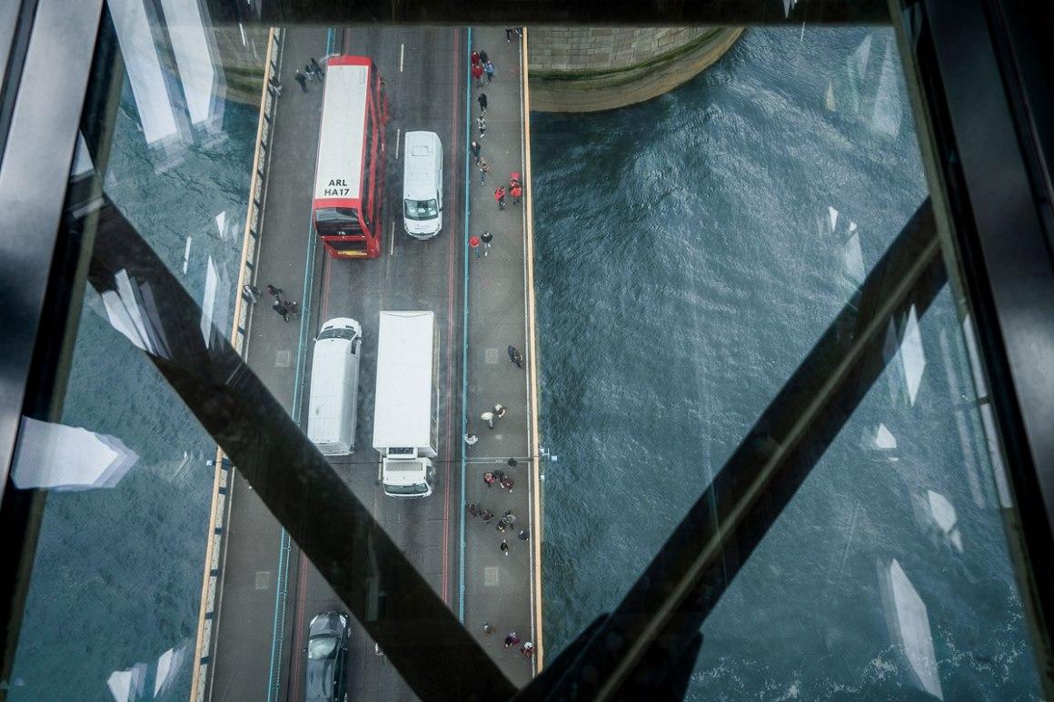 London Tower Bridge Ervaar glazen vloer