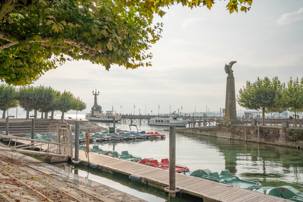 De haven van Konstanz, het Bodenmeer