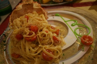 B, Murano: Pasta mit Seespinnen-Fleisch