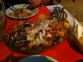 Fisch aus dem Ofen im Barracuda, Santa Maria auf Sal