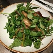 Grüner Grüner - Erbsenschoten, Bohnen, Erbsen, grüner Spargel, Blattsalat (5,50 Euro)