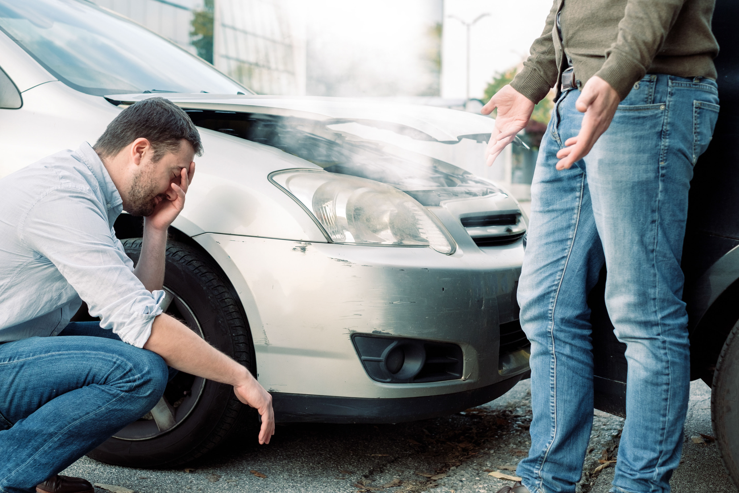 Was tun nach einem Autounfall?