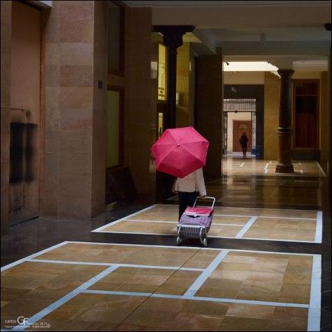 Paraguas rosa