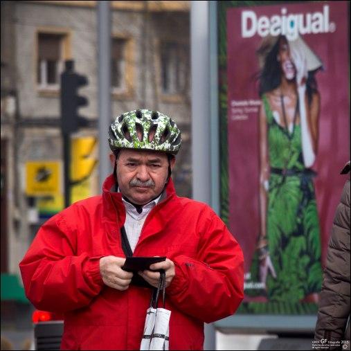 El ciclista pensativo