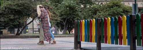 La valla de los colores