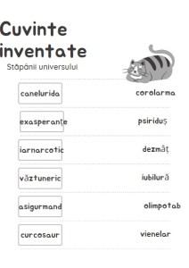 Stăpânii universului - cuvinte inventate
