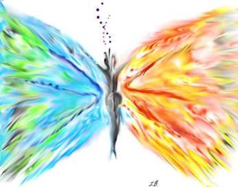 femeia fluture