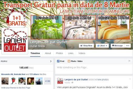 lenjerii de pat outlet facebook