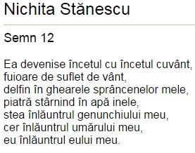 poezie nichita stanescu