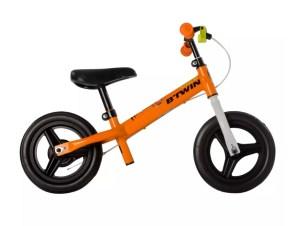 bicicleta fara pedale portocalie copii 2 4 ani