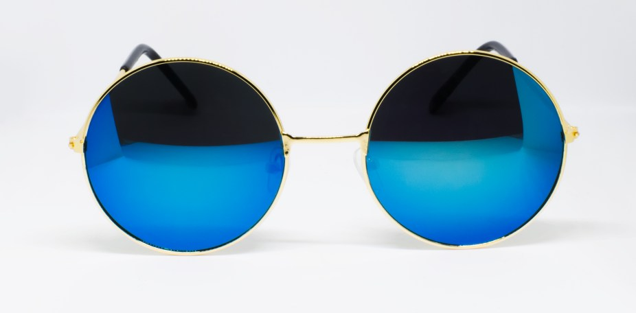 Retro Vintage Round Mirrored Sunglasses