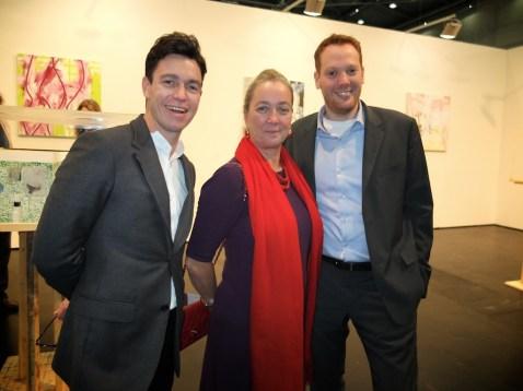 James Lindon, Agnes Husslein-Arco and Georg Muzicant