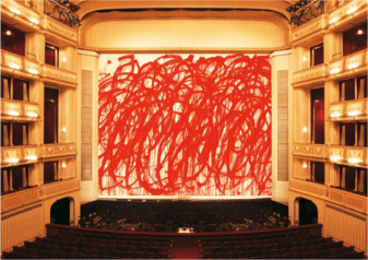 """Cy Twombly, """"Bacchus"""", Safety Curtain, 2010/2011 Photo: Museum in progress"""