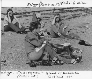 Paul Neagu, Fish's Net, vintage photograph, Ivan, 1972, photocredit: courtesy of the artist