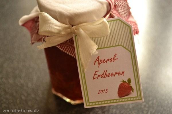 Aperol-Erdbeeren-Marmelade Rezept, DIY Marmelade + Beschriftung mit Vorlage zum Ausdrucken!