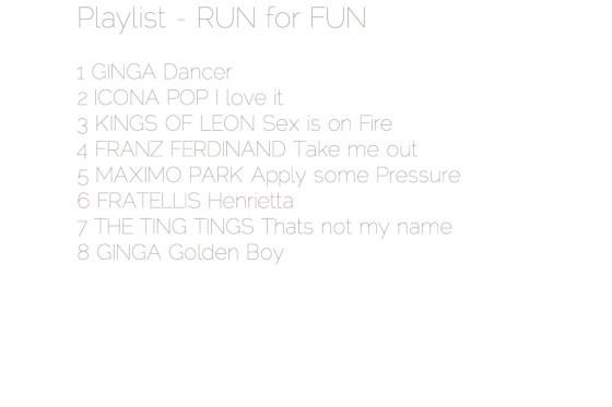 Playlist Run for Fun