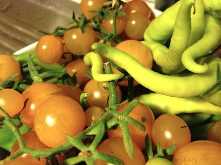 Tomaten und Pfefferoni