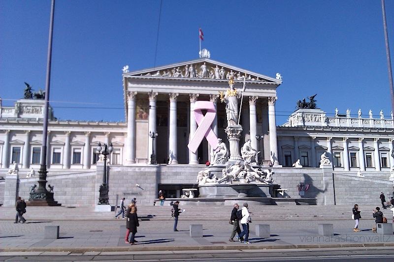 Pink Ribbon Österreichische Parlament