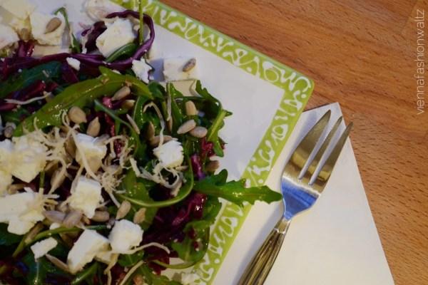 Rucola Rotkraut Salat