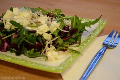 Ruccola-Rotkraut-Salat