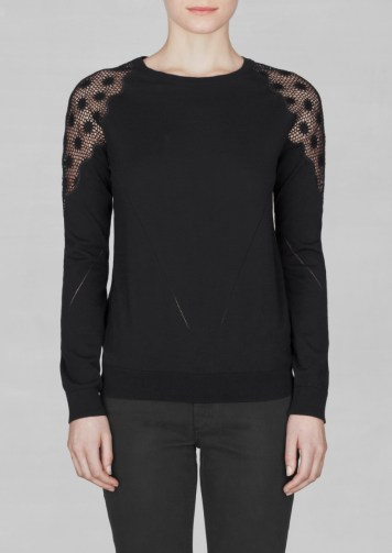 lace and cotton sweater € 55,00