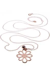 Rosé vergoldete Kette von New One 59€ http://www.newone-shop.com/new-one-jewelry/flocon-kette-rose-vergoldet-lang-blume.html
