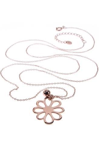 Rosé vergoldete Kette von New One 59€ http://www.newone-shop.com/new-one-jewelry/flocon-kette-rose-vergoldet-lang-blume.html