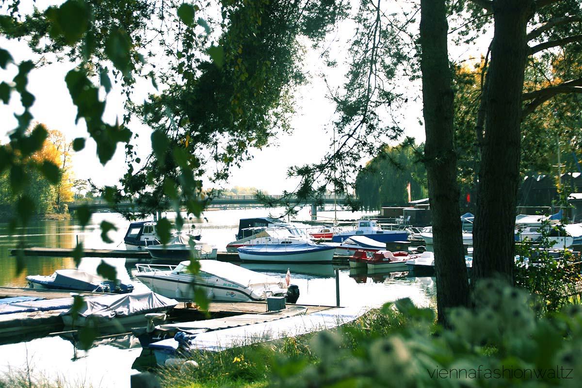 Wien Alte Donau, Wien: Boote an der Alten Donau