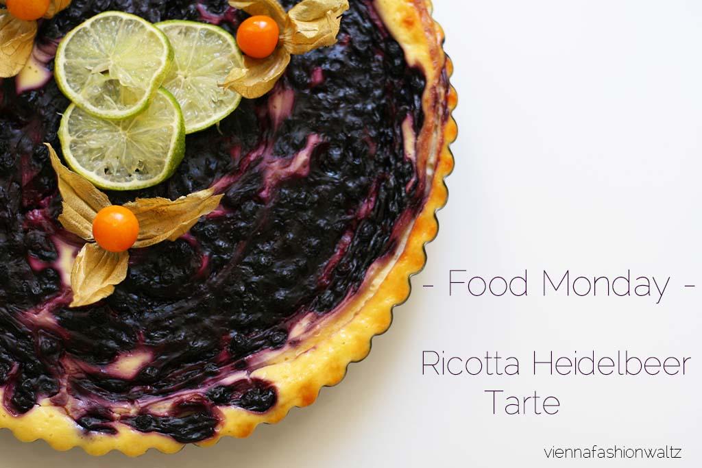Ricottoa-Heidelbeer-Tarte