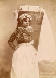 Wäschermädel, 1886, aus der Fotoserie Wiener Typen von Otto Schmidt © Wien Museum http://www.wienmuseum.at/