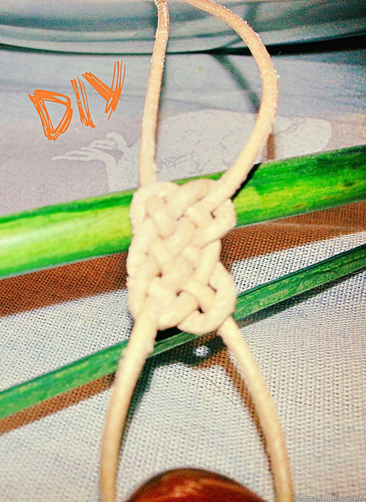 knot necklace diy, Karneol, Kette,