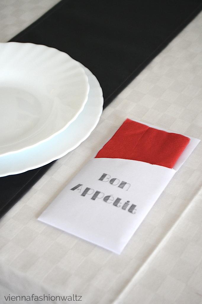 DIY Tischdekoration - Tasche für Besteck & Serviette