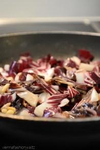 Gnocchi mit Chicorée und Bärlauchpesto [vegan]