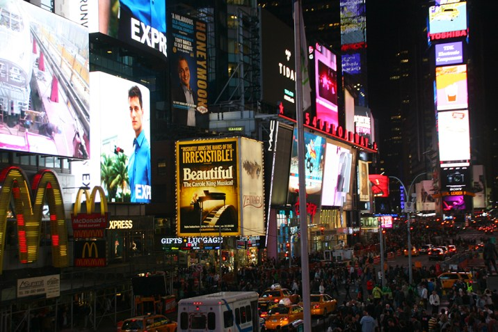 NYC Times Square by Night
