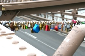 NYC Brooklyn Bridge lock