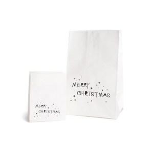 DEPOT_Papiertüte Christmas 2er-Set weiß ca L 18 x B 13 x H 28 cm_EUR 3,99
